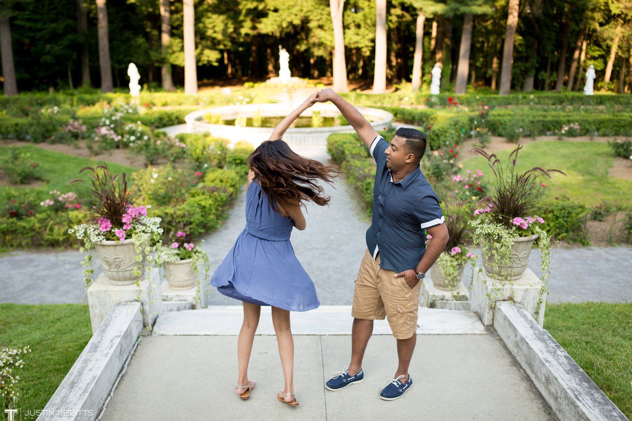 Vinish and Merlyn's Yaddo Garden's Saratoga, NY Engagement Shoot_0011